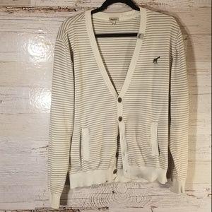 LRG stripe sweater cardigan